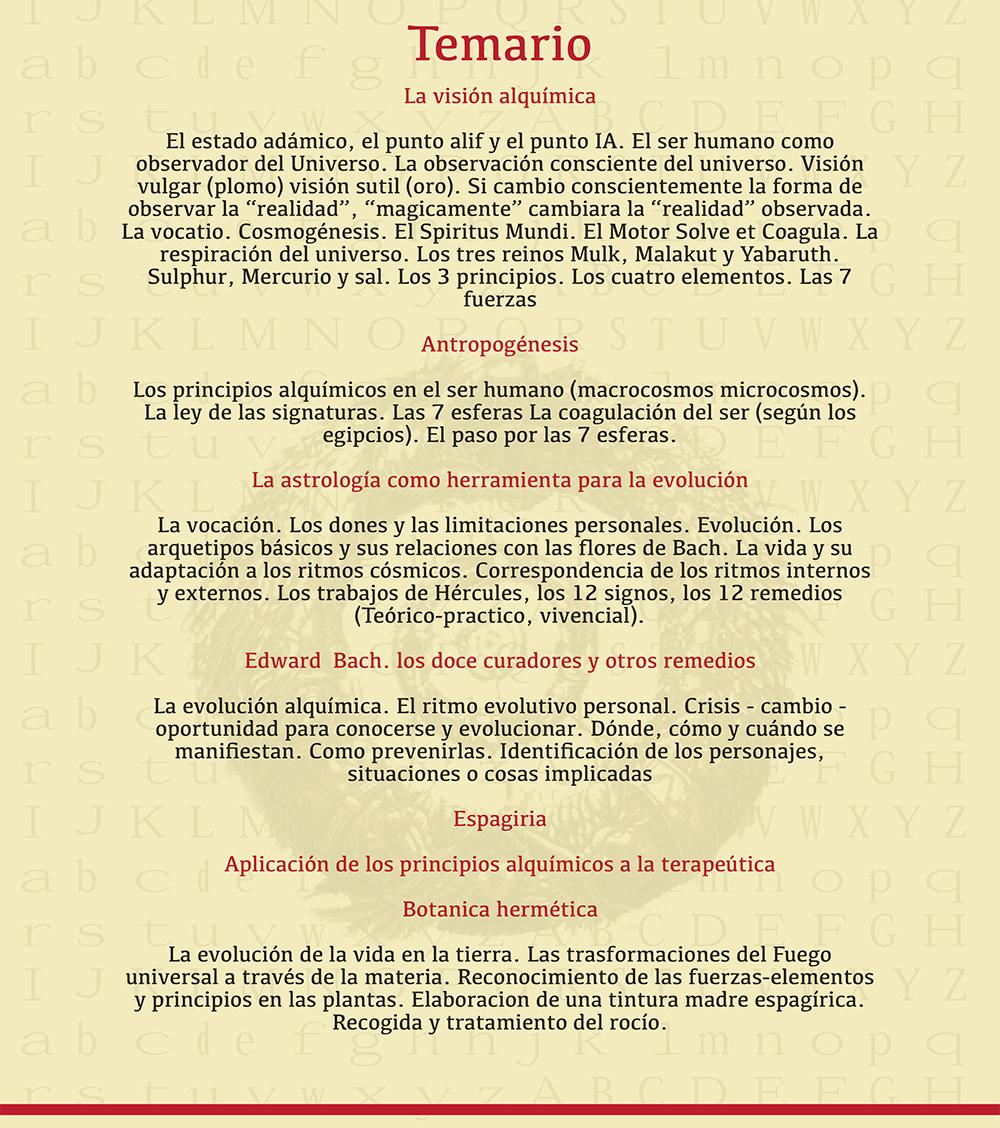 Alquimia Chile programa 2015